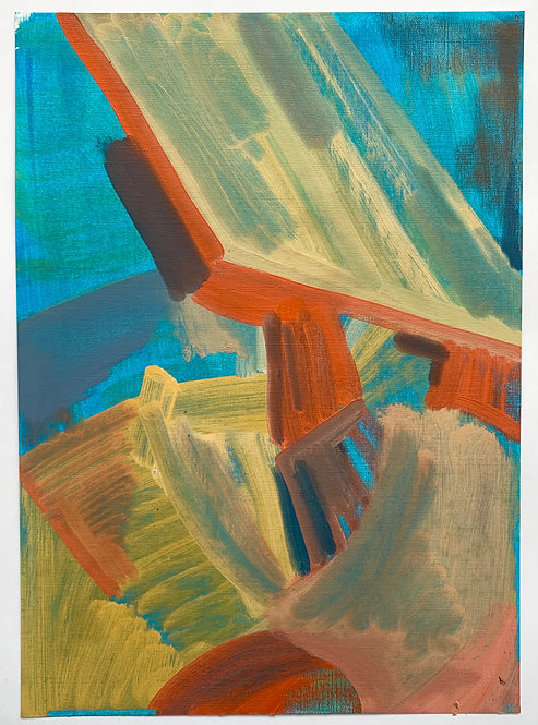 STUDIO SALE: Close to the ground 5, oil on canvas paper