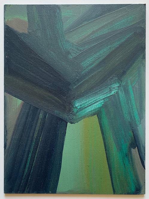 STUDIO SALE: Untitled oil on canvas panel (1)