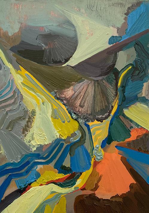 STUDIO SALE: Untitled oil on cradled board (1)