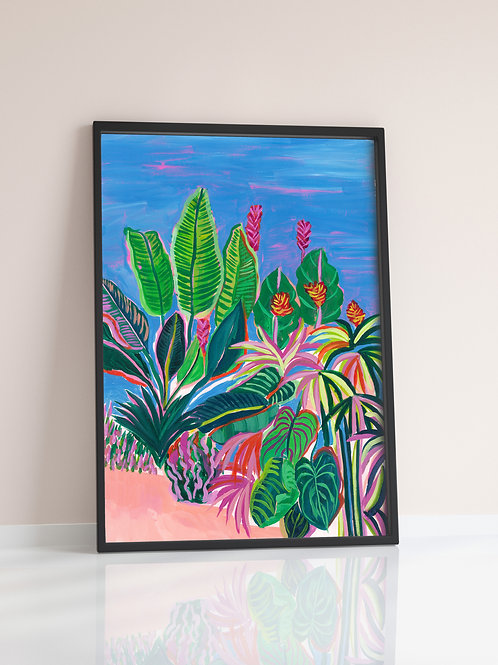 Tropical Patio Print