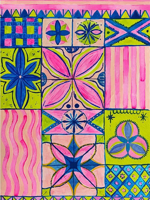 Mosaic Tile Print