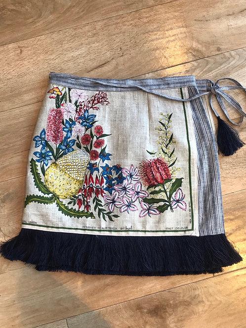 Western Australia Wildflower Wrap Skirt Size 10/12