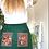 Thumbnail: Brown and Orange VintageTeatowel Skirt Size 14