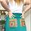 Thumbnail: Blue Vintage Teatowel Skirt Size 14