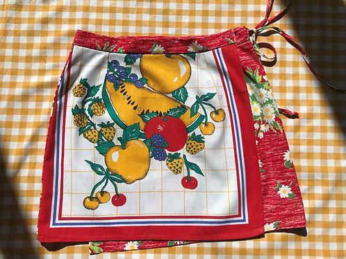 Summer Fruits Teatowel Wrap Skirt Size 10/12