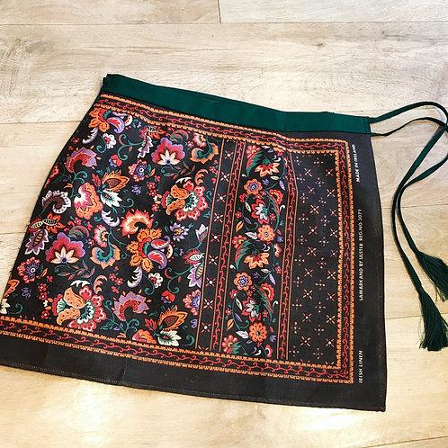Brown and Orange VintageTeatowel Skirt Size 14
