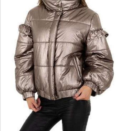 Mettalic bumber jacket