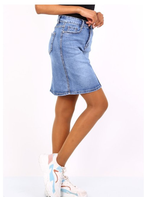 stretch jeansrok