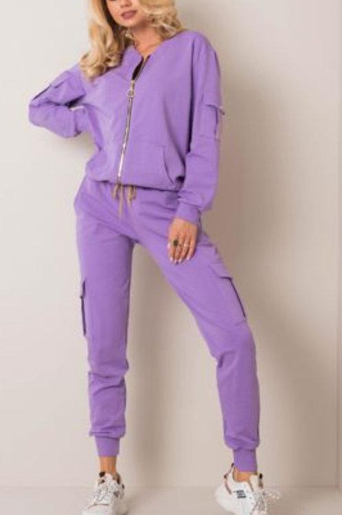 Jogging suit purple