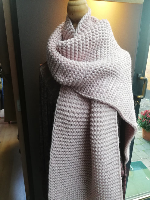 Knitted pink scarf