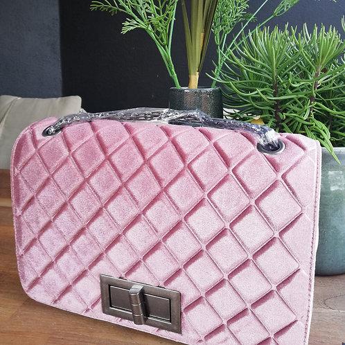 Velvet powder handbag