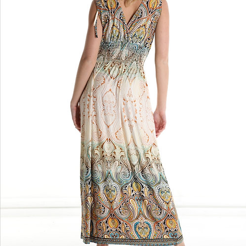 Cachemire V neck long dress