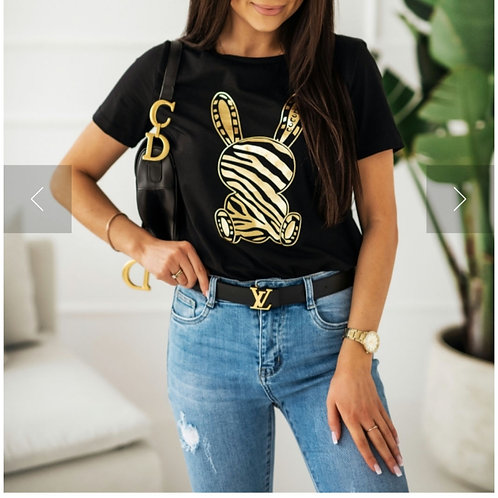 T shirt Rabbit zebra LM