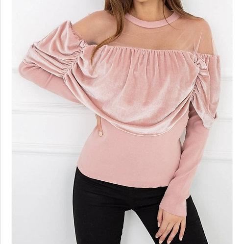 Velvet blouse Vittoria one size