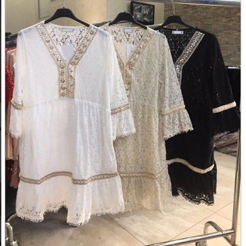 Korte boho dress one size