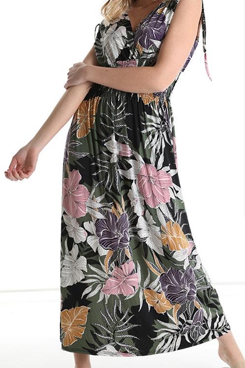 Black flower dress FP