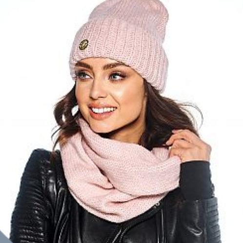 Set muts+sjaal soft pink