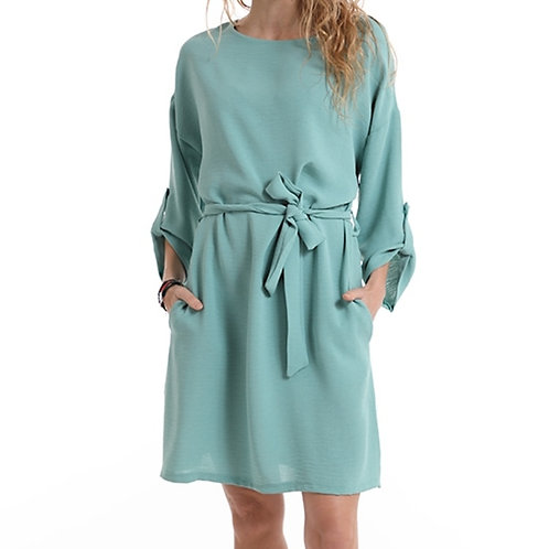 Casual dress met riem taille unique