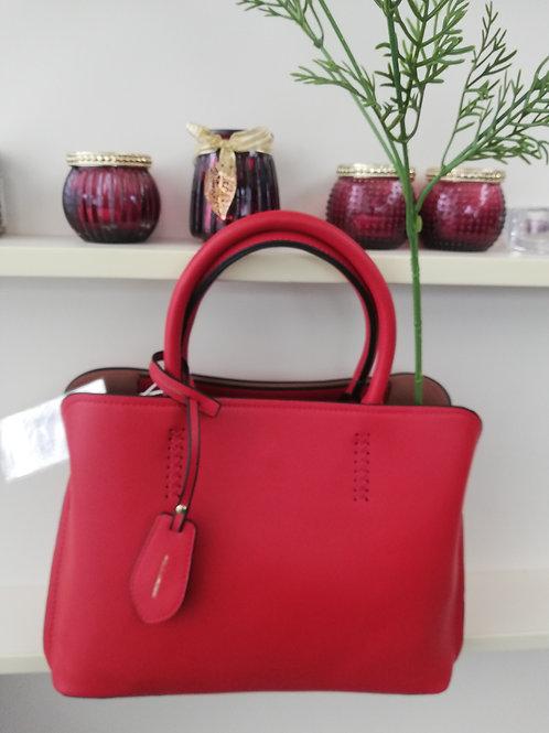 Rode handtas met riem