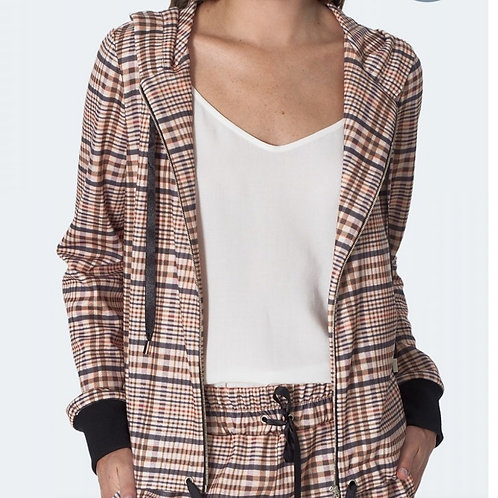 Checked cardigan nife