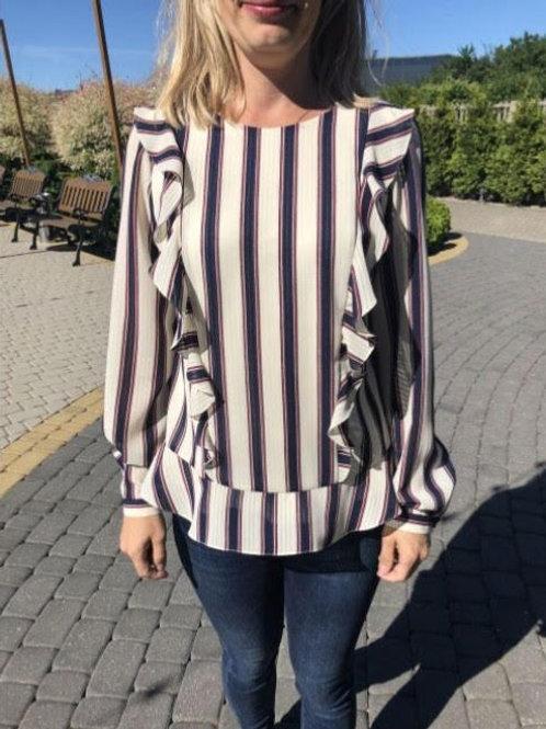 blouse voile met strepen