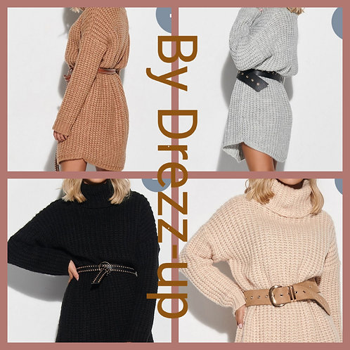 Knitted sweater dress mio one size