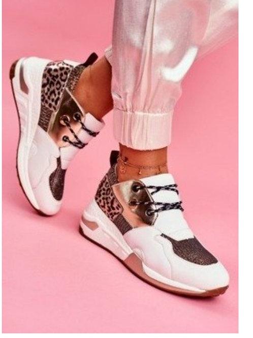 Sneaker mettalic chic