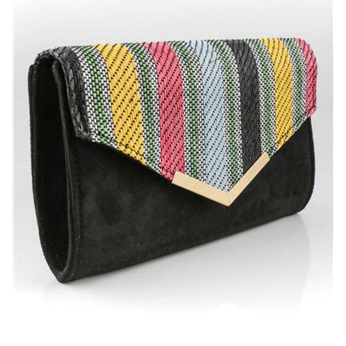 clutch black met riem