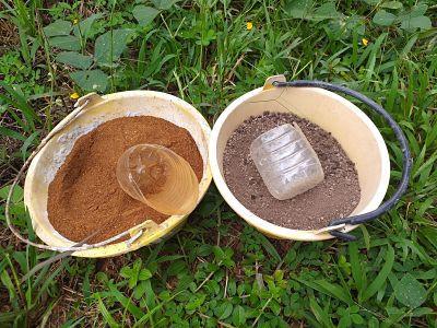 Neem cake and processed manure fertilizer