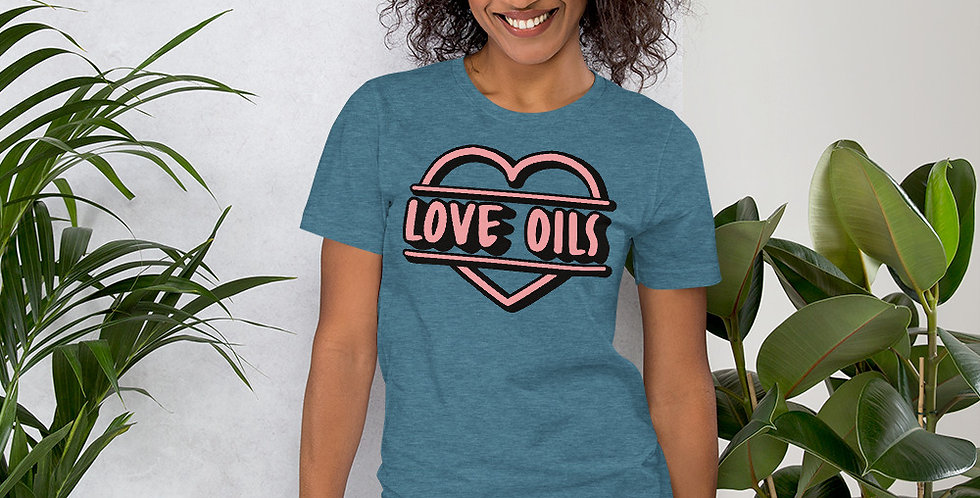 Love Oils Short-Sleeve Unisex T-Shirt