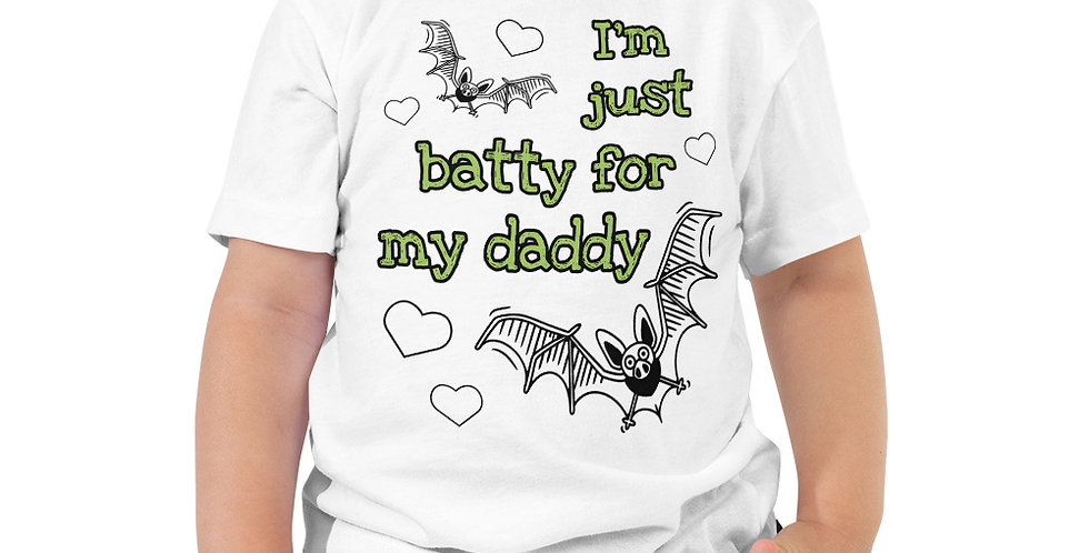 Batty For Daddy Toddler Short Sleeve Tee