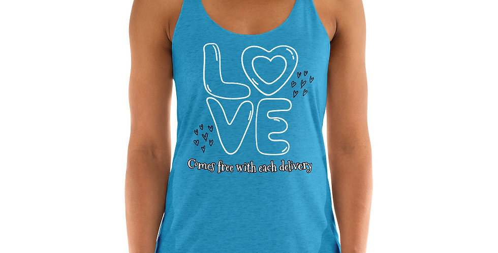 Love With Delivery Women's Racerback Tank