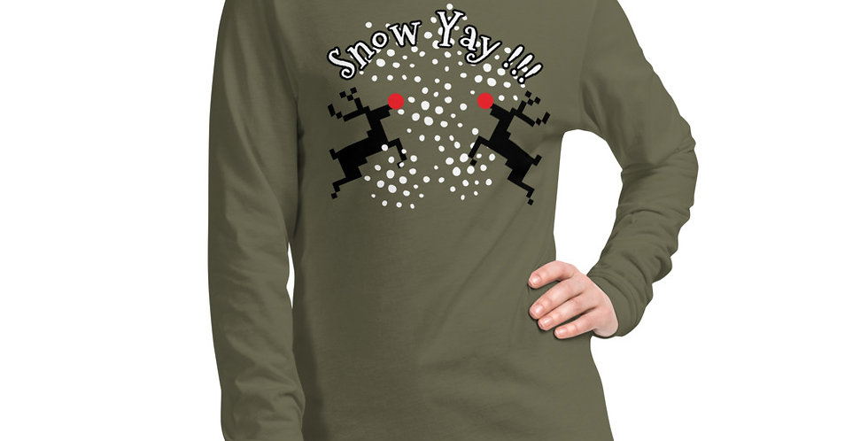 Snow Yay!!! Unisex Long Sleeve Tee