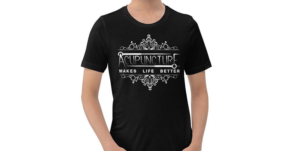 Acupuncture Makes Life Better- Light on Dark- Short-Sleeve Unisex T-Shirt