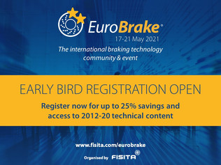 EuroBrake 2021 Early Bird ticket deadline approaching – ends 31 March