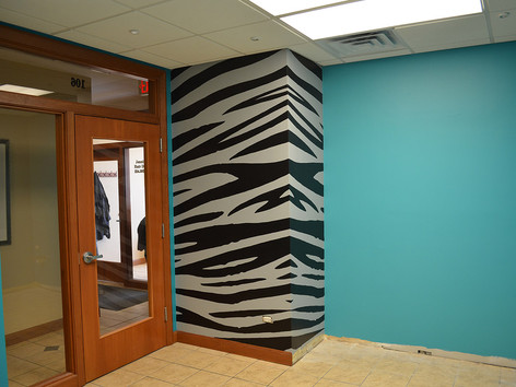 Salon Tiger Stripe Wall