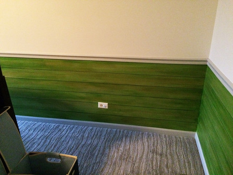 Faux Distressed Wood Planks
