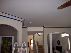 Faux Marble Trim Before
