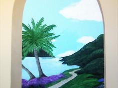 Foyer Faux Window Mural