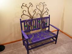 Custom Painted Bench