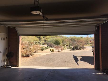 Big garage in the Sonoran desert