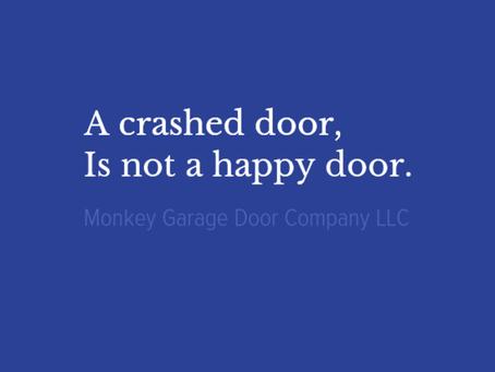 A crashed door