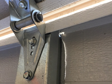 Replace garage door not panels