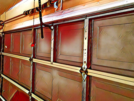 Non Insulated Garage Door Short Panel Design Call us (520)848-6989 ..#monkeygaragedoorcompany #tucso