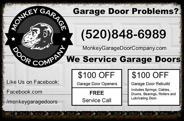 garage door opener coupon, garage door rebuild coupon, garage door coupons, free servie call coupon,