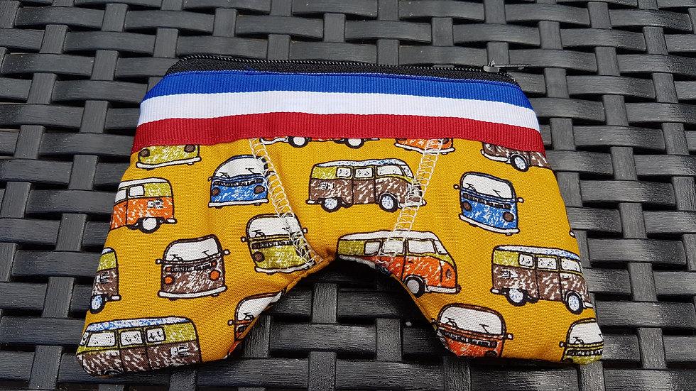 Porte monnaie caleçon français motif mini bus