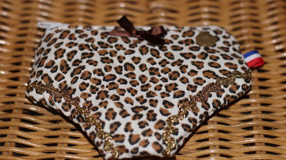 Porte monnaie culotte motif thème léopard