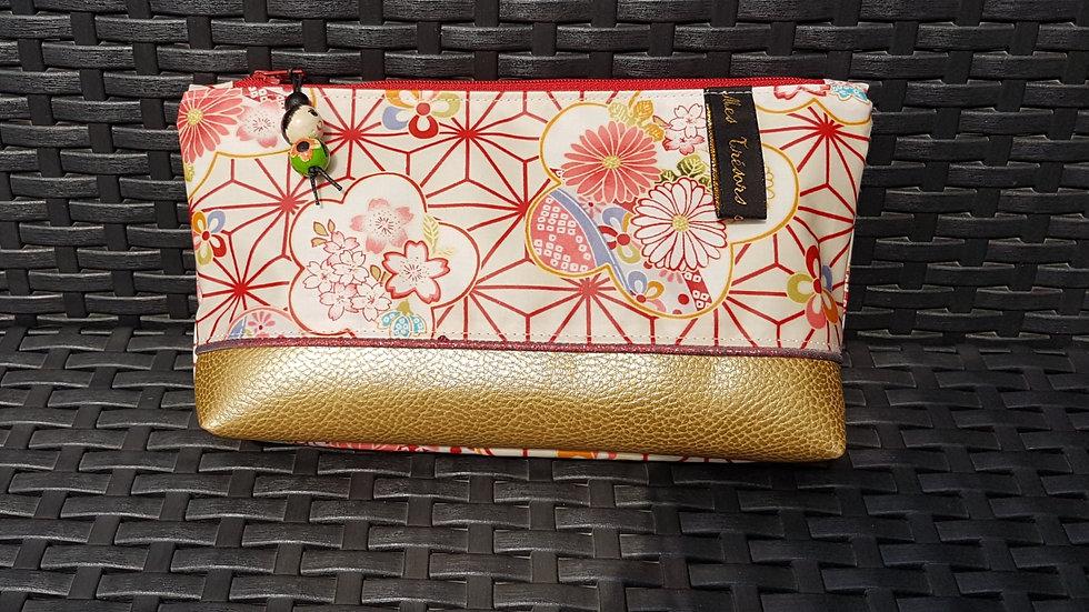 Trousse  Kokeshi motif japonisant 2