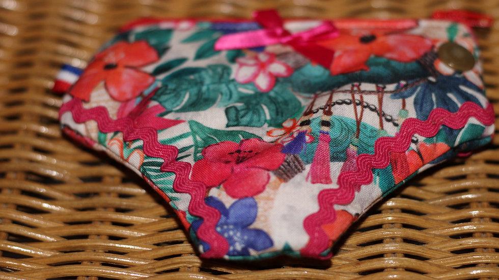 Porte monnaie culotte motif tropical