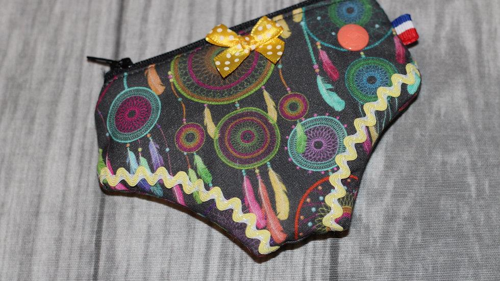 Porte monnaie culotte attrape rêve multicolore